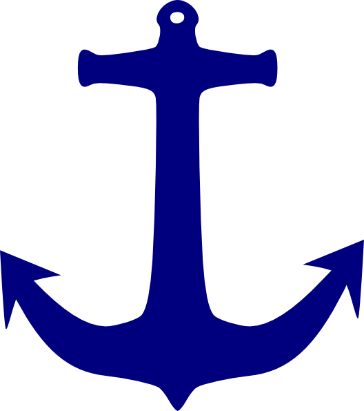 Clip art at clker. Clipart anchor drawing blue
