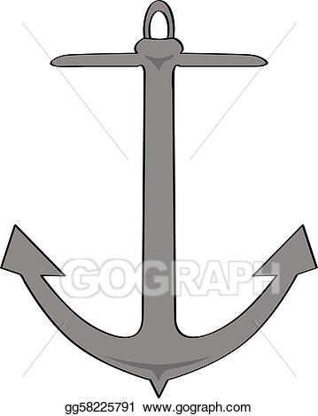 Vector illustration cartoon gg. Clipart anchor eps