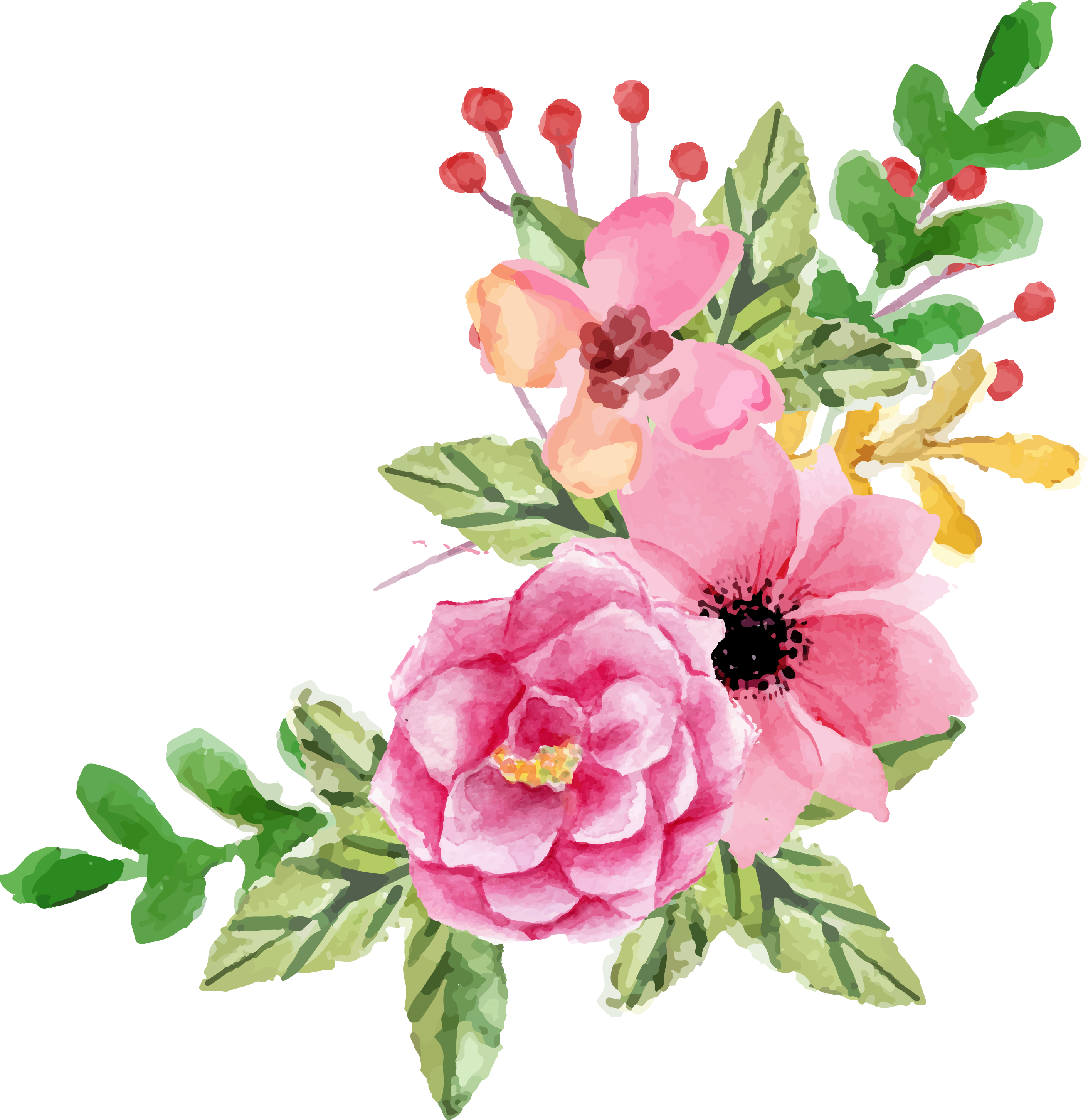 Valentines day elements fptfy. Peony clipart wedding flower