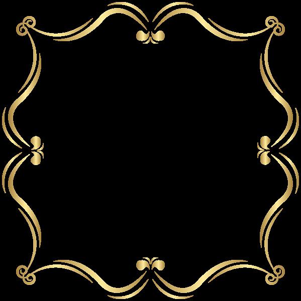 Heaven clipart frame. Gold border png clip