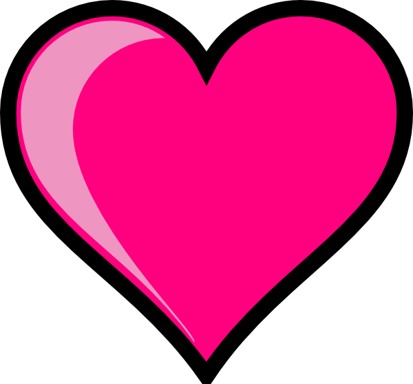 Picture acur lunamedia co. Clipart heart pink