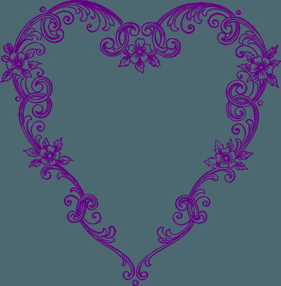 Purple clip art free. Retro clipart heart