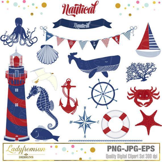 Clipart anchor lighthouse. Nautical clip art blue