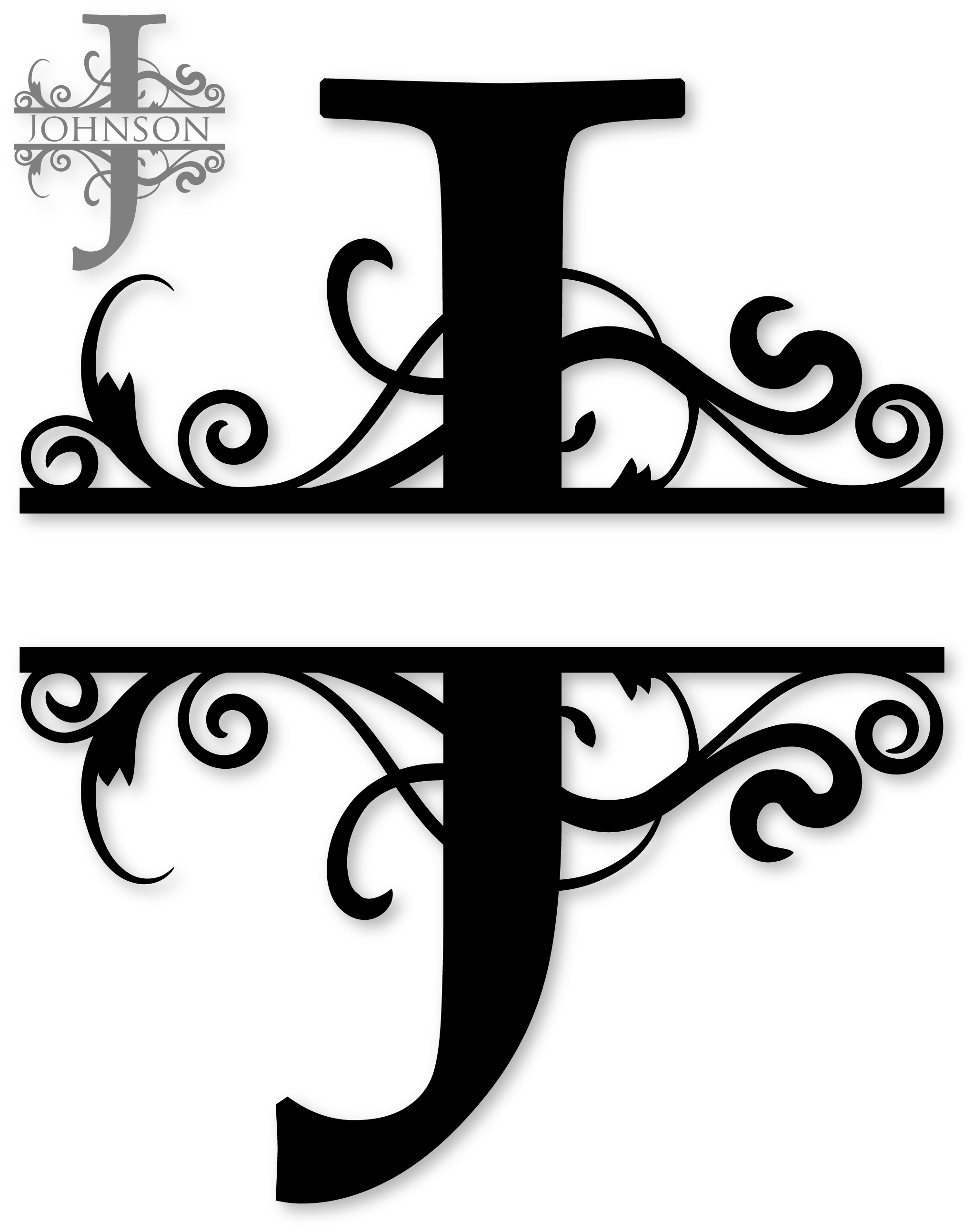 J split monograms pinterest. E clipart monogram