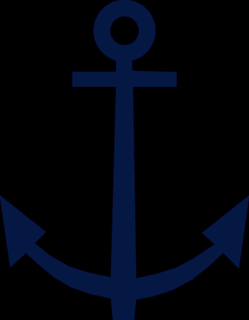 Blue symbol design png. Clipart anchor navy