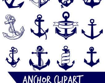 Clipart anchor navy canadian. Clip art etsy