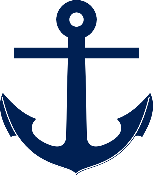 Pencil and in color. Clipart anchor navy