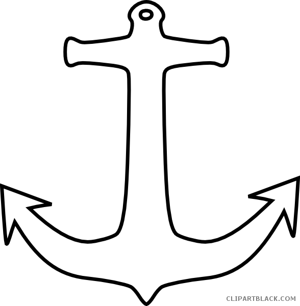 Tools free black white. Clipart anchor outline