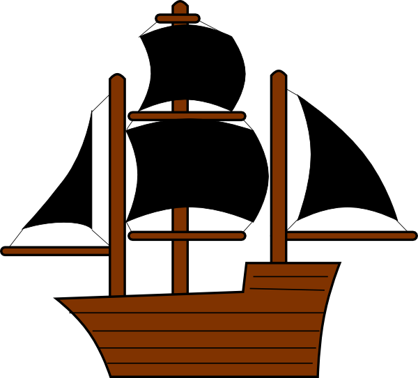 Black clip art at. Clipart anchor pirate ship