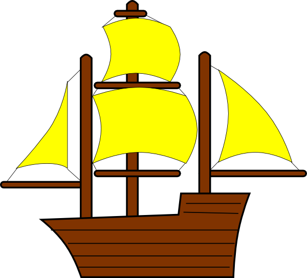Yellow clip art at. Clipart anchor pirate ship