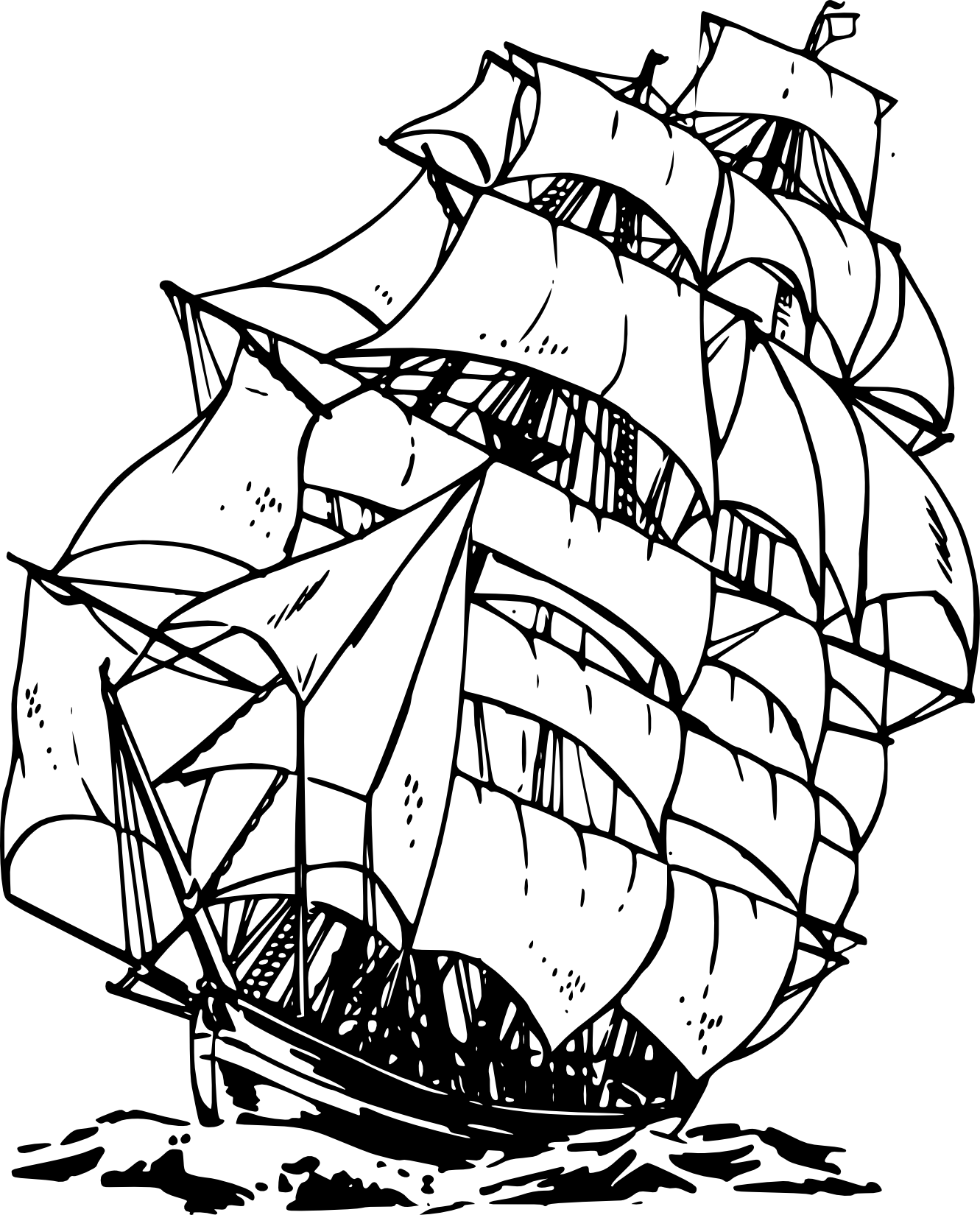 Clipart anchor pirate ship. Black and white panda