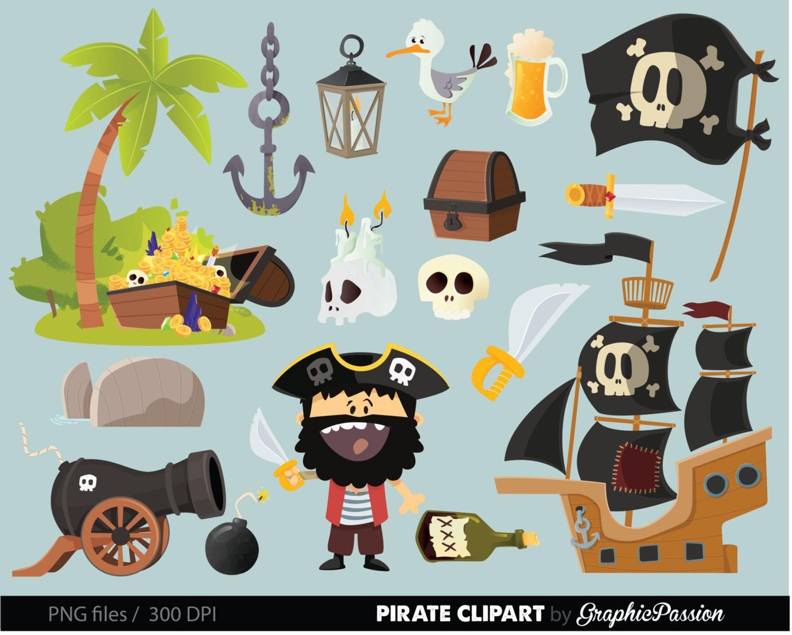 Clip art treasure nautical. Clipart anchor pirate ship
