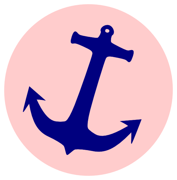 Clipart anchor preppy. Simple pink clip art