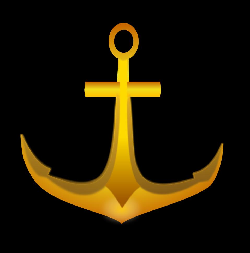 Clip art image golden. Clipart anchor public domain