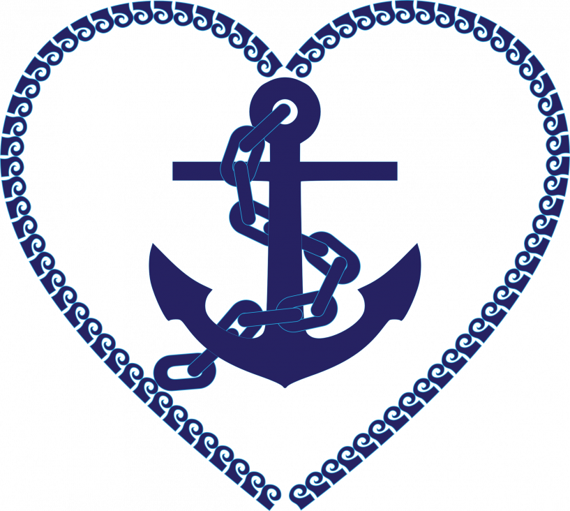 Clipart free anchor. Nautical heart jokingart com