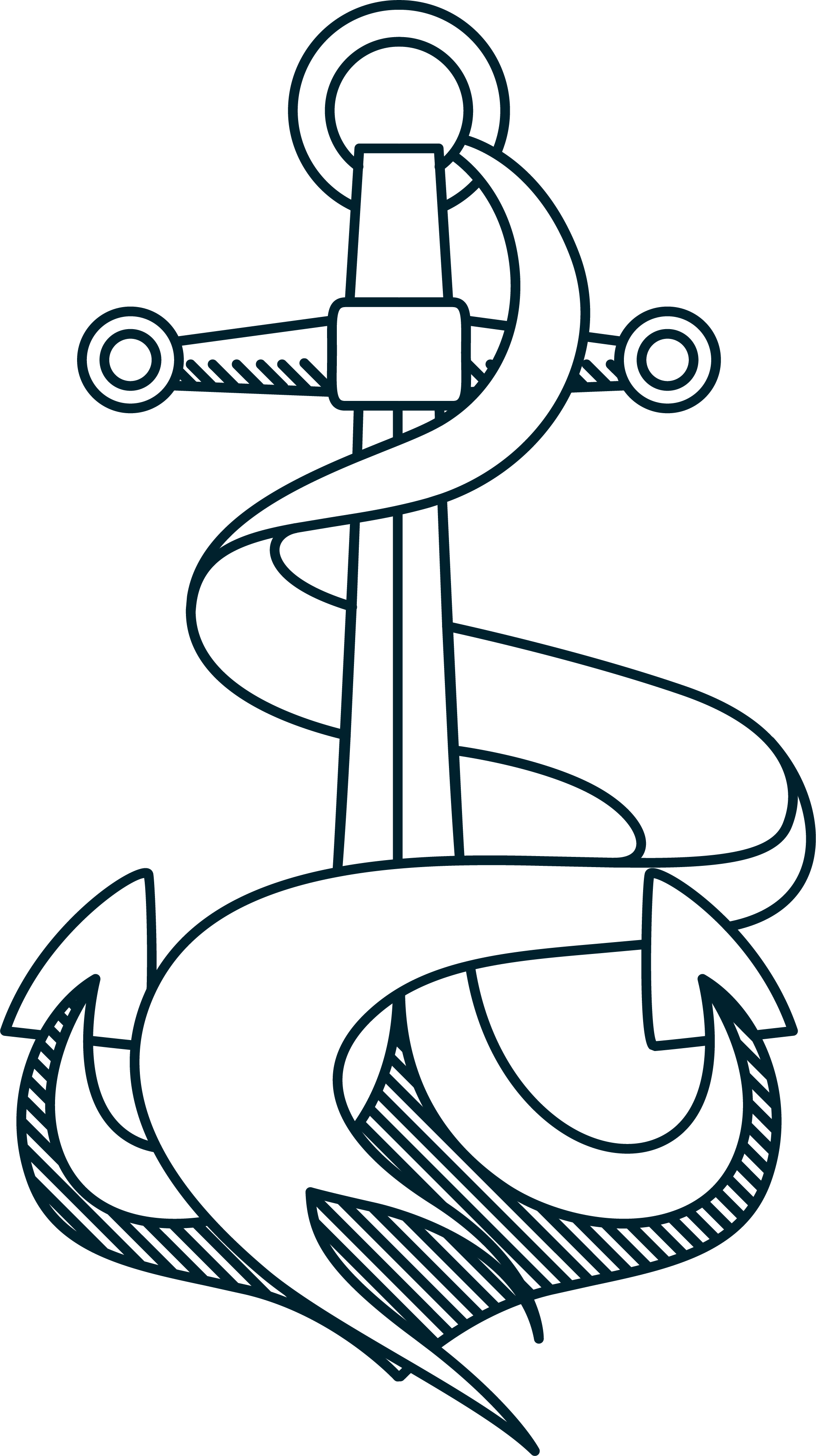 Clip art hand painted. Clipart anchor rope