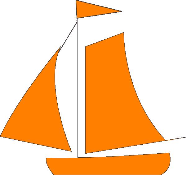 Orange sail boat clip. Clipart anchor sailboat