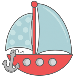 With svg cut files. Clipart anchor sailboat