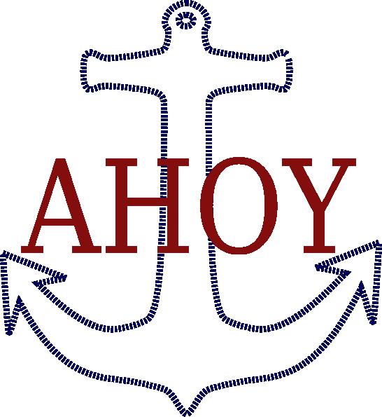 Clipart anchor sailor. Ahoy clip art at