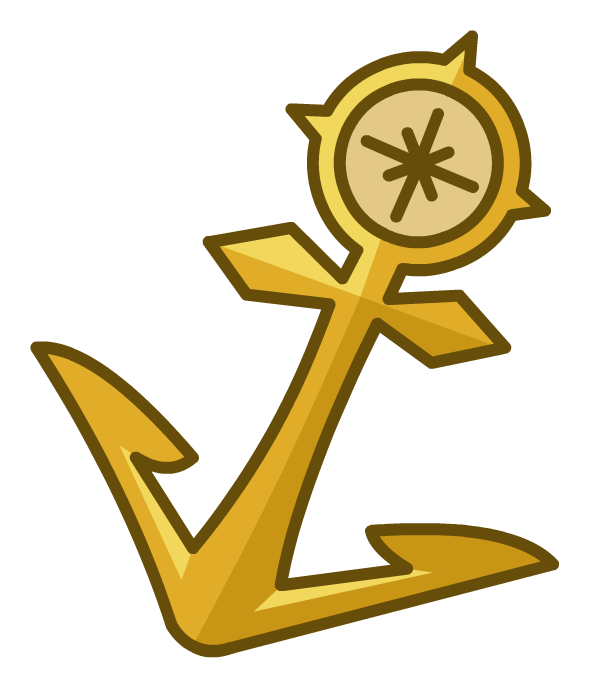 Clipart anchor sea anchor. Image gold pin png