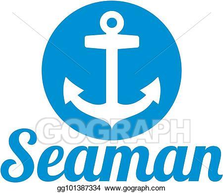 Clip art vector with. Clipart anchor seaman logo