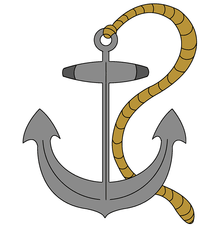 Clipart anchor shaded. How to draw an