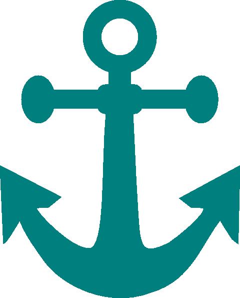 Clipart anchor teal. Clip art at clker