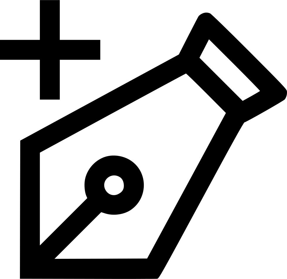 Clipart anchor thin. Pen tool add point