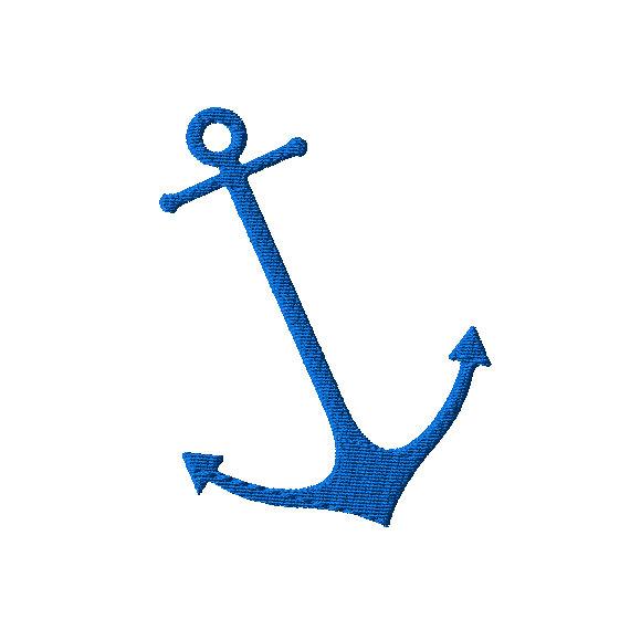 Clipart anchor thin. Machine embroidery design