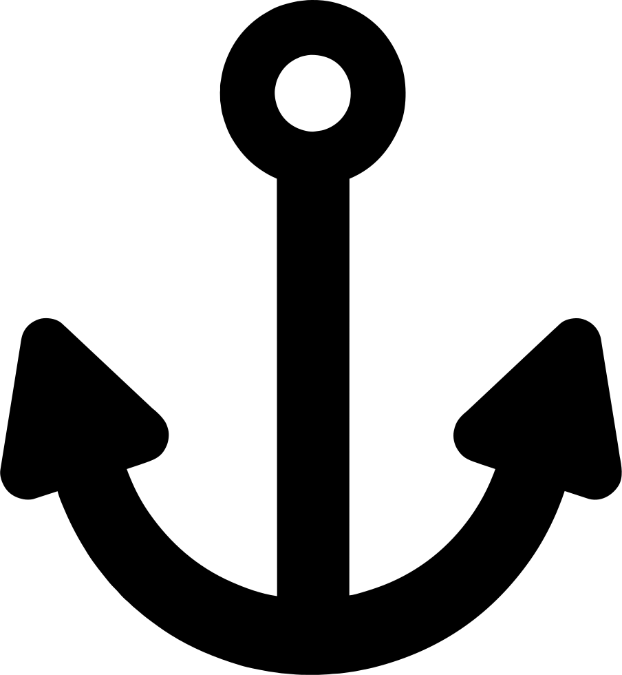Svg png icon free. Clipart anchor thin