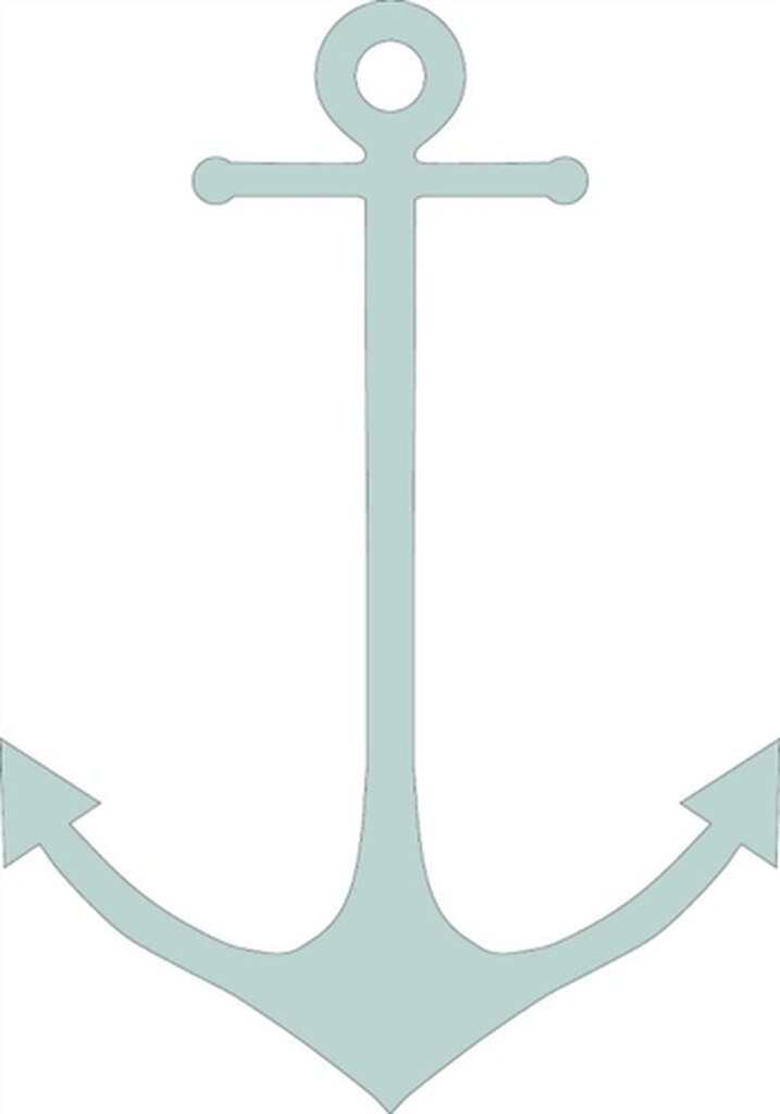 Skinny unfinished cutout wooden. Clipart anchor thin