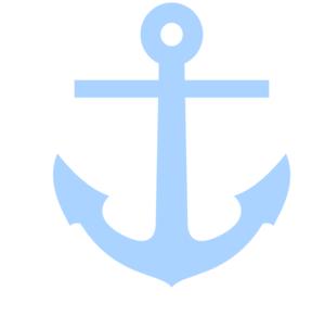 Light blue clip art. Clipart anchor tilted