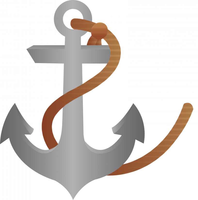 Clipart anchor tilted. Ship with rope free