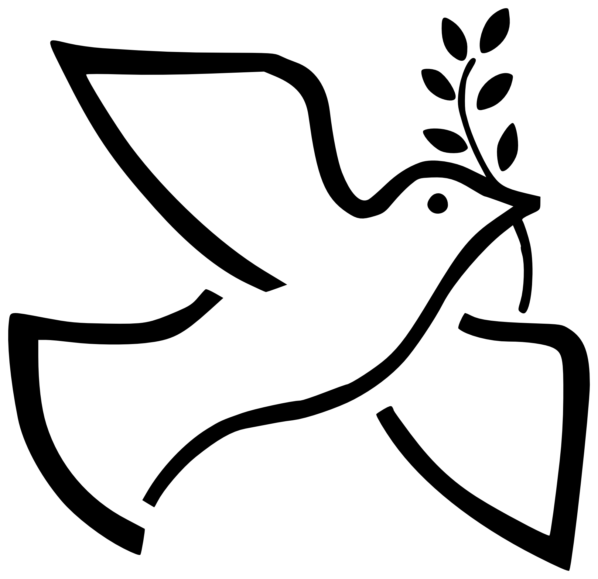 Clipart anchor traceable. Peace dove kid sunday