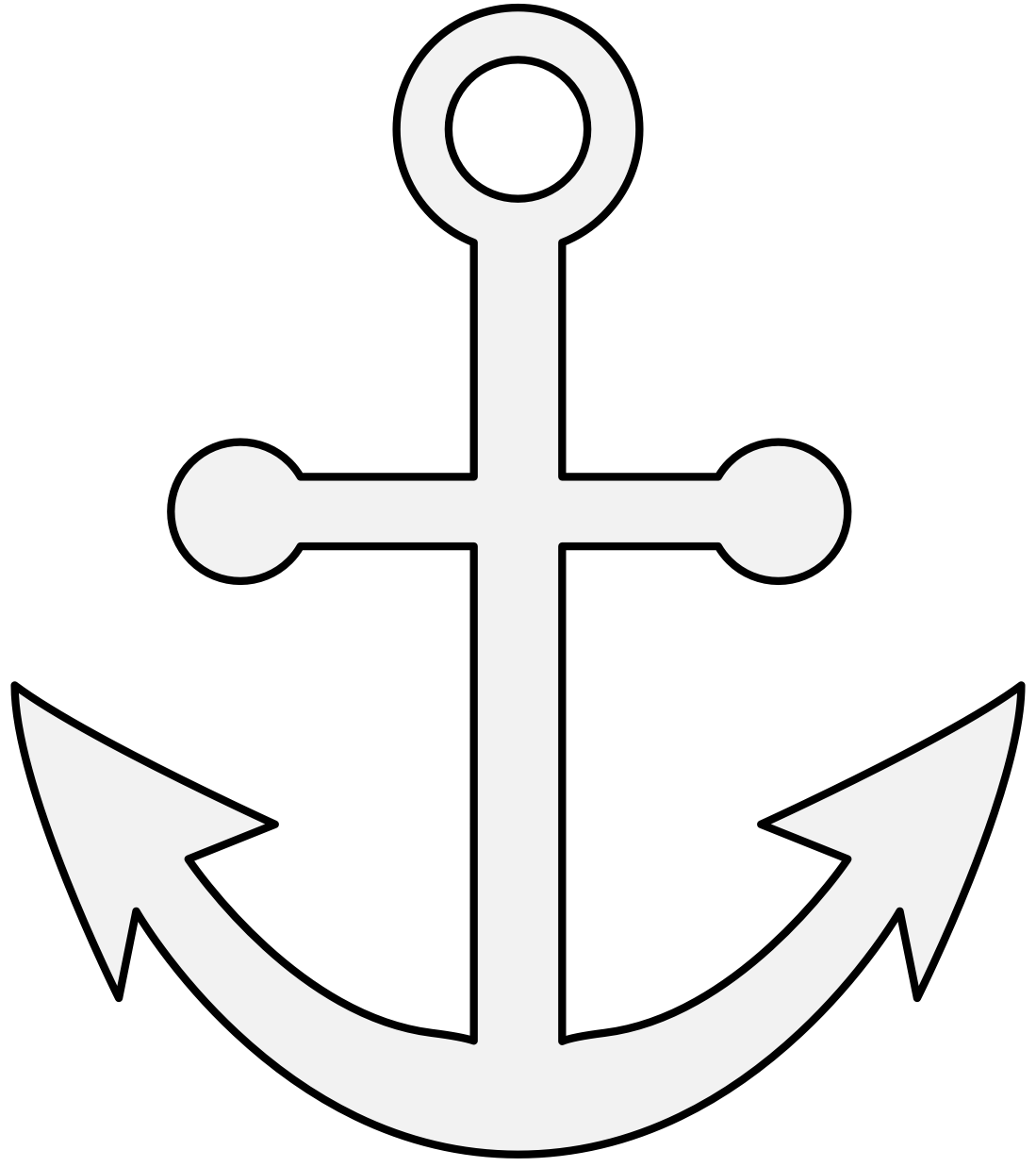 Clipart anchor traceable. Heraldic art