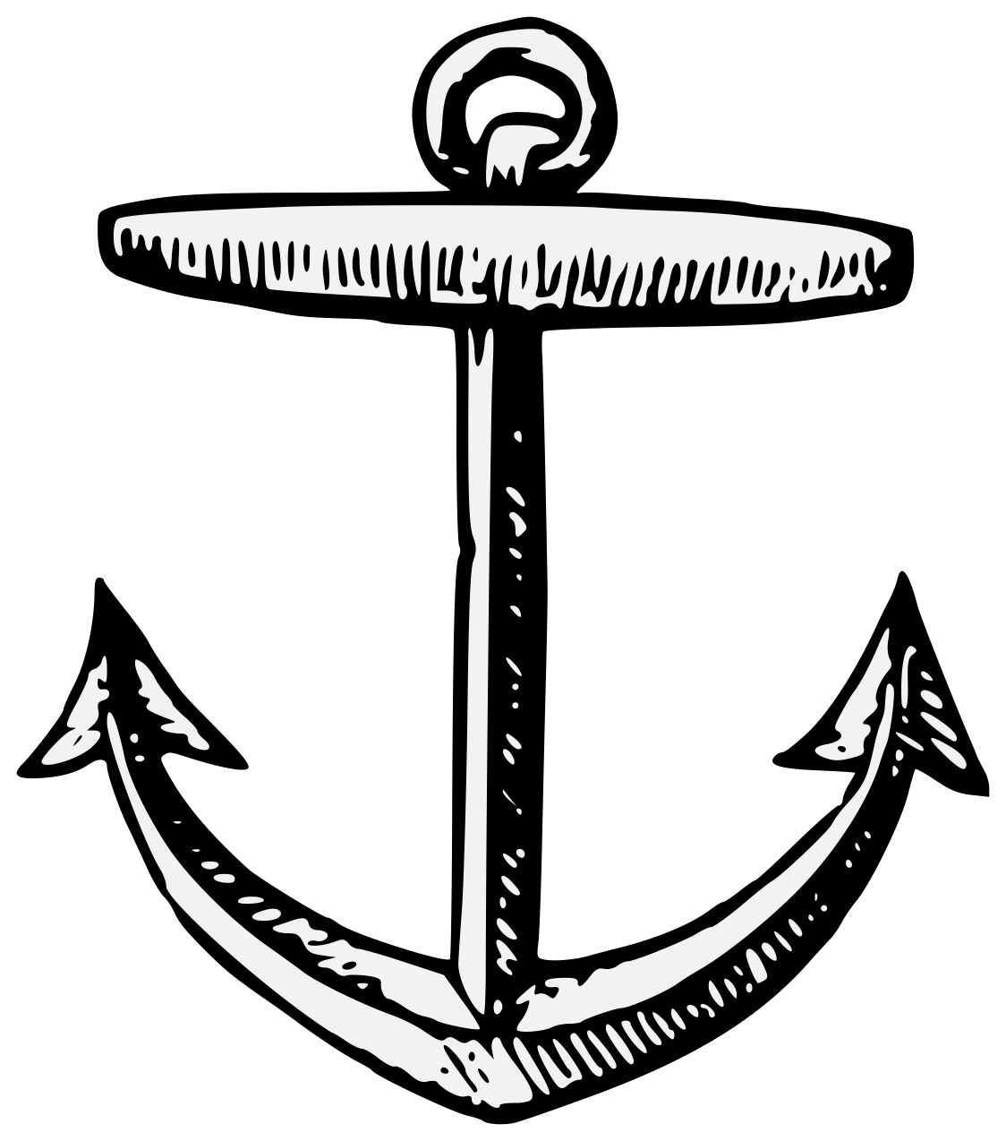 Heraldic art . Clipart anchor traceable