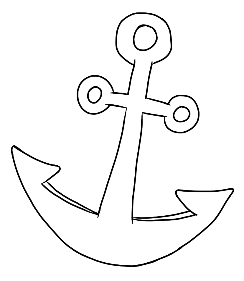 Clipart anchor two. Clip art by carrie