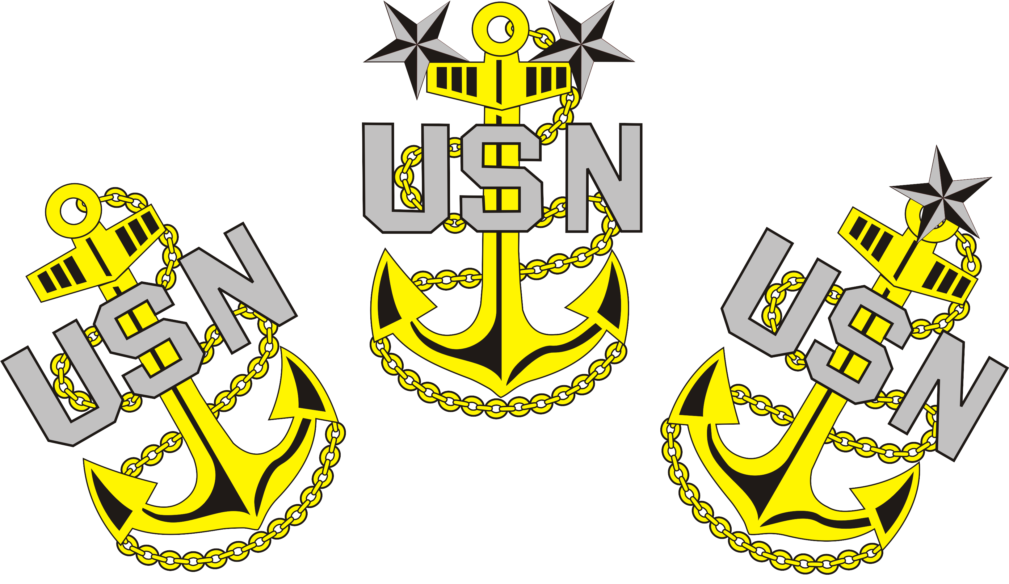 Clipart anchor usn.  download navy chief