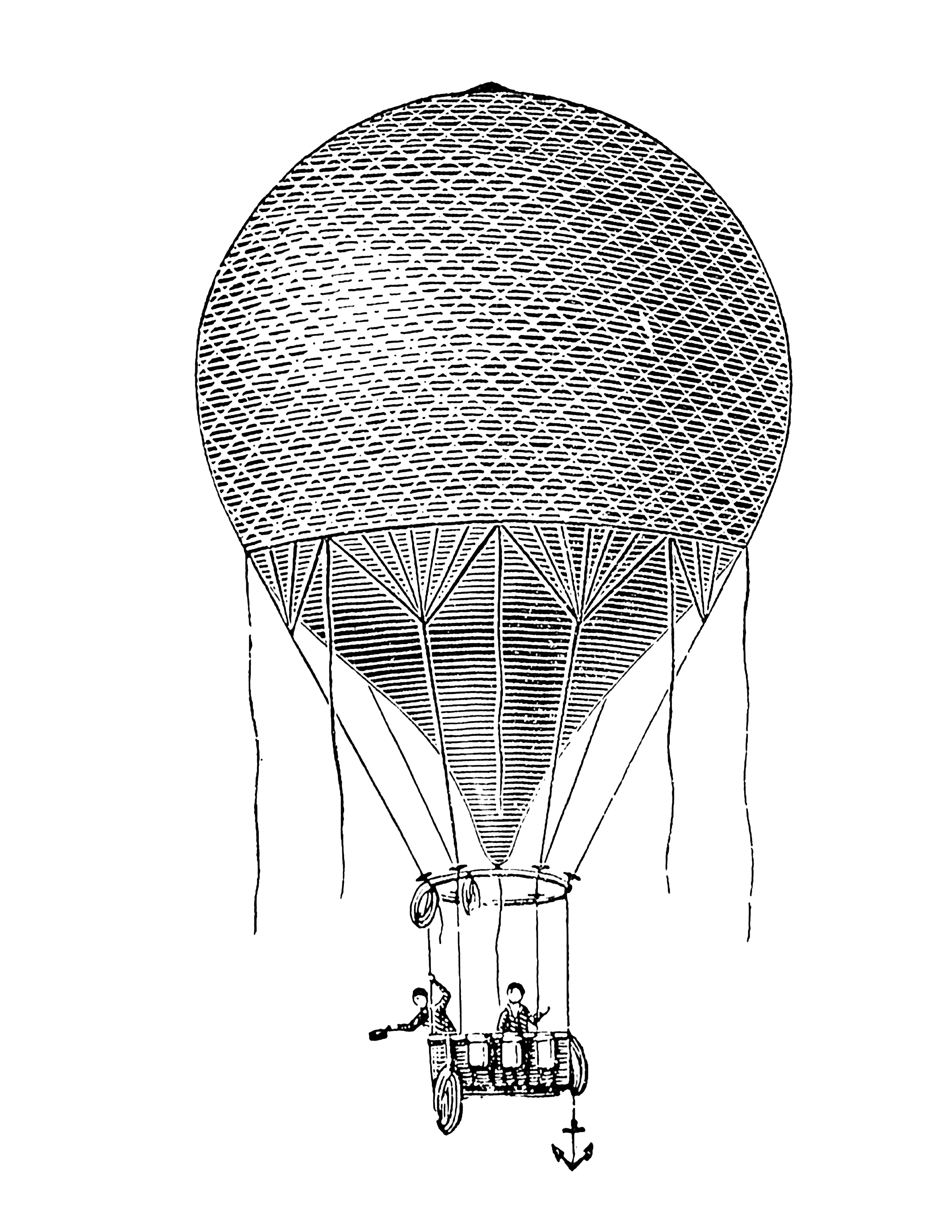 Clipart anchor victorian.  baloon era free