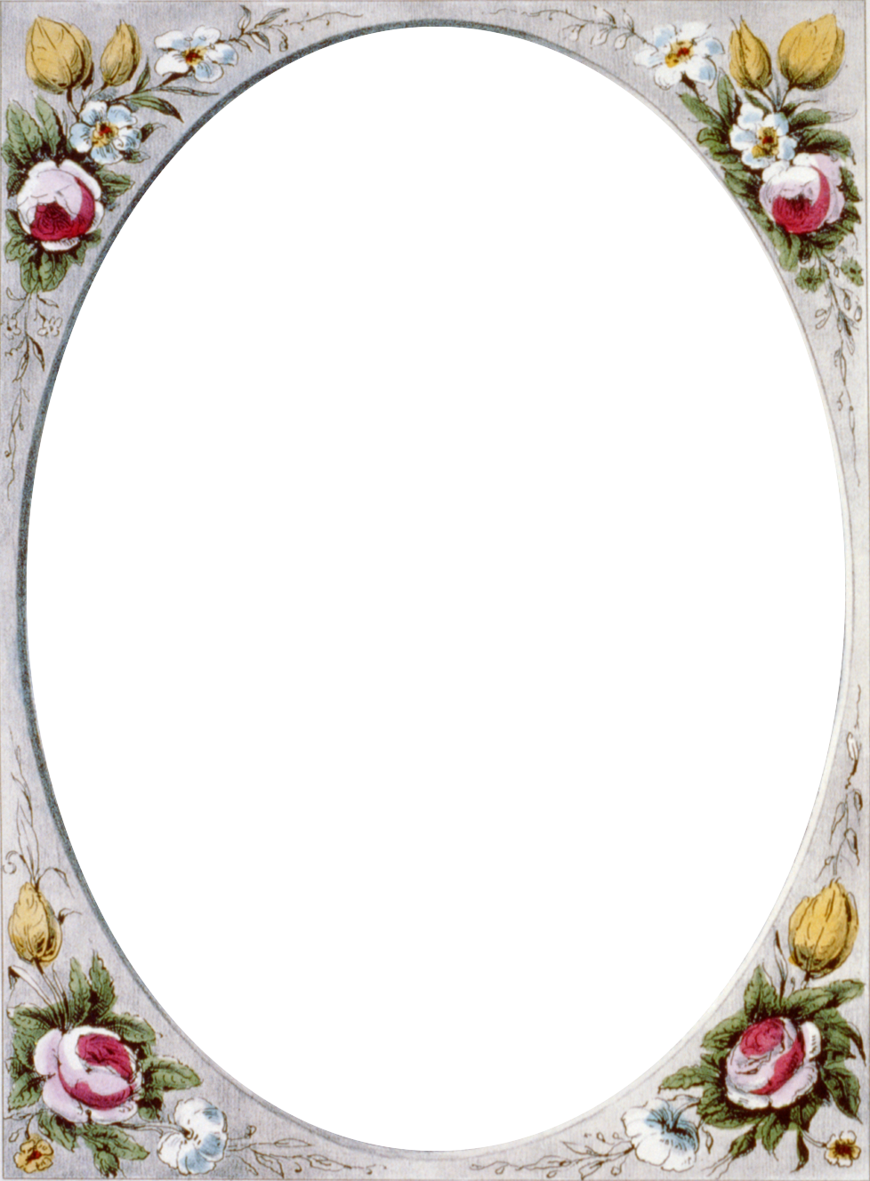 Floral vintage frame call. Patience clipart border