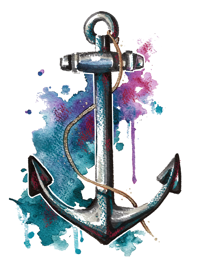 Clipart anchor watercolor. Mjm portfolio dpi
