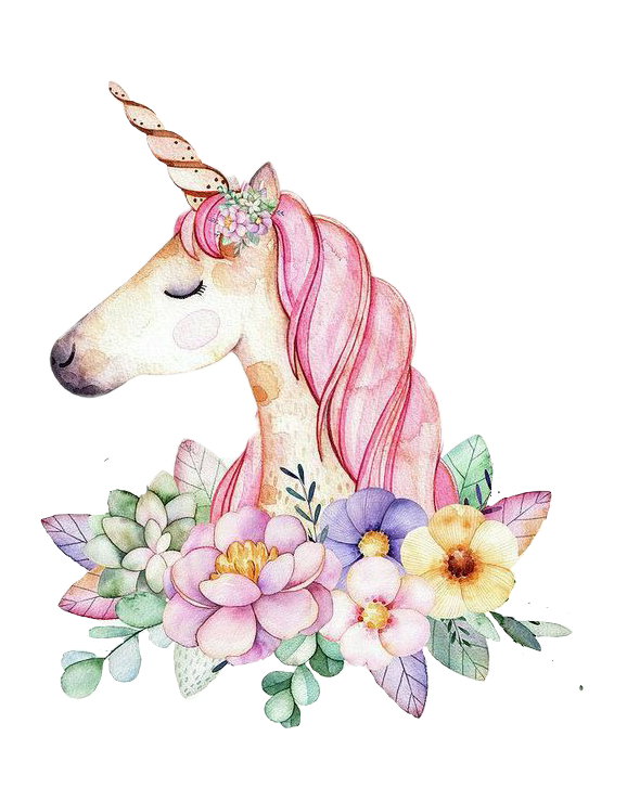 Winter clipart unicorn. Unicornio y flores pinterest