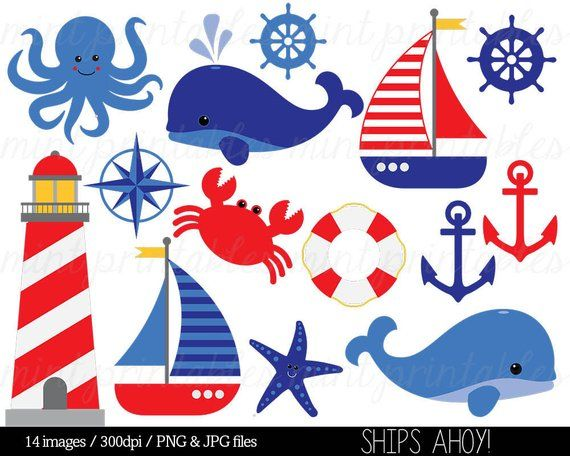 Clip art anchor whale. Nautical clipart nursery