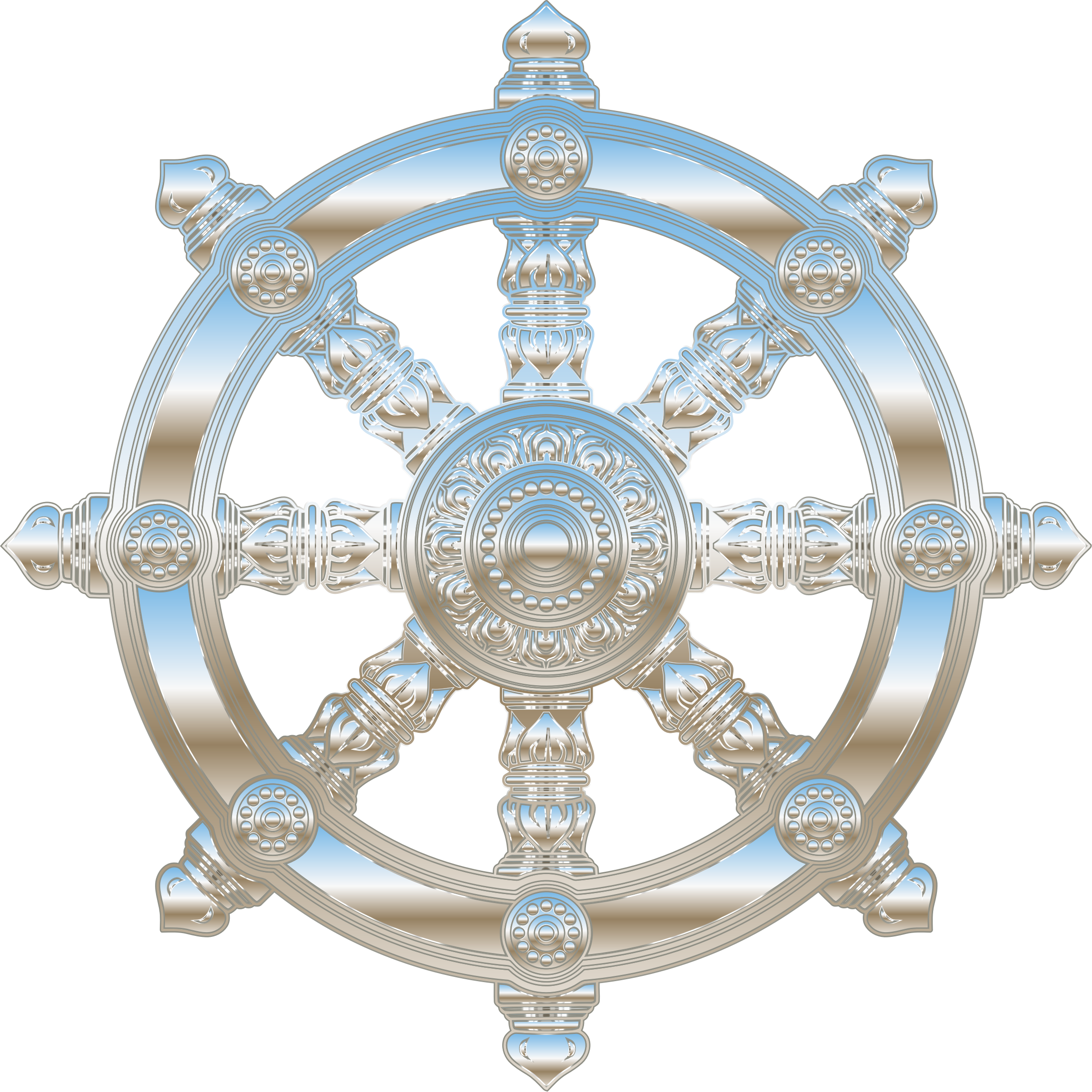 Clipart anchor wheel. Environment mapped chrome ornate