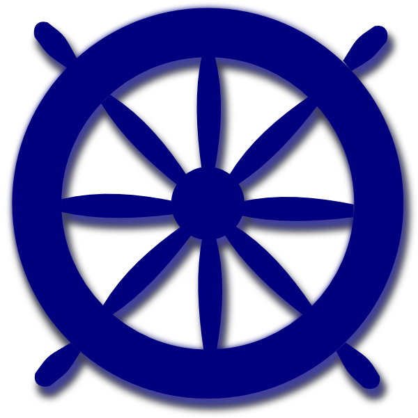 Blue ships clip art. Clipart anchor wheel