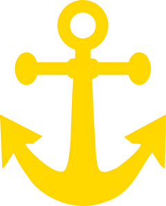 Dark clip art at. Clipart anchor yellow anchor