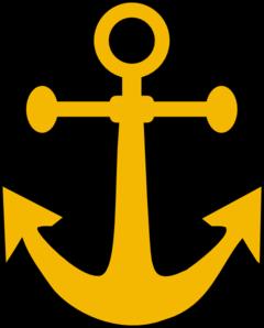 Tan clip art at. Clipart anchor yellow anchor