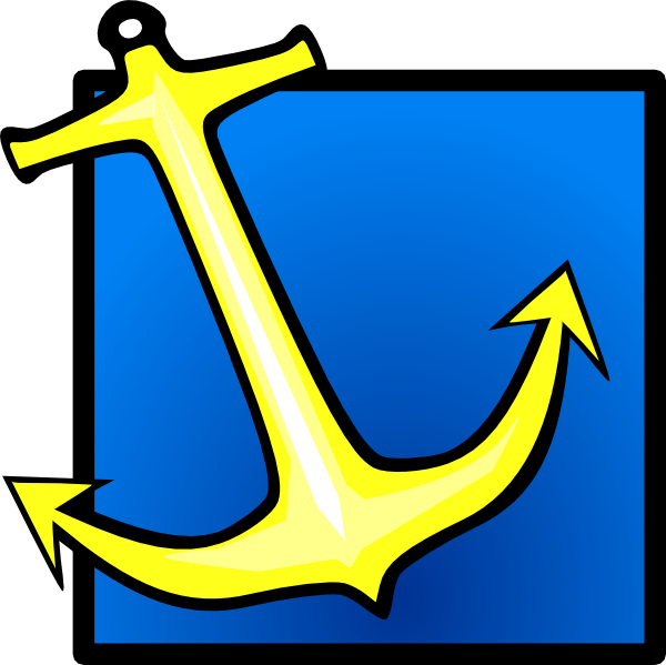 Blue background clip art. Clipart anchor yellow anchor