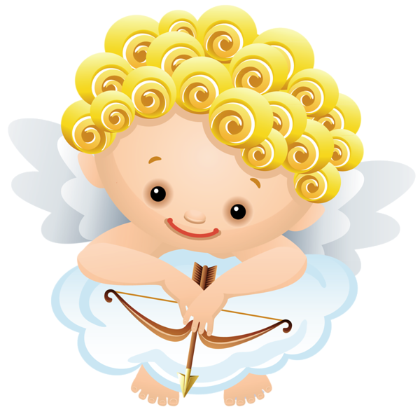 Markers clipart animated. Cartoon angel with bow