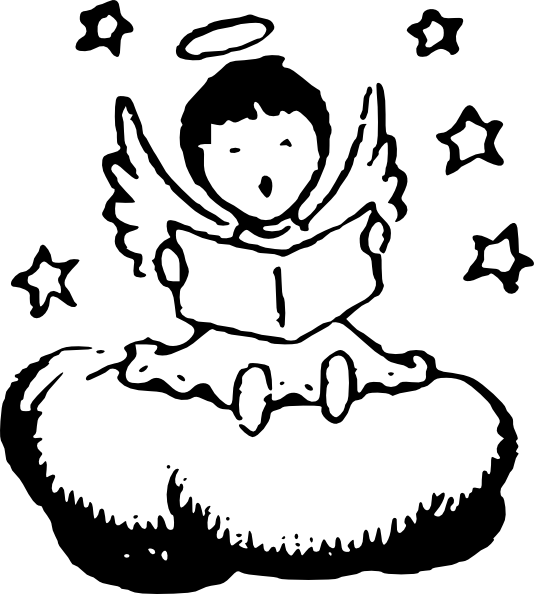 Little reading on a. Gardening clipart angel